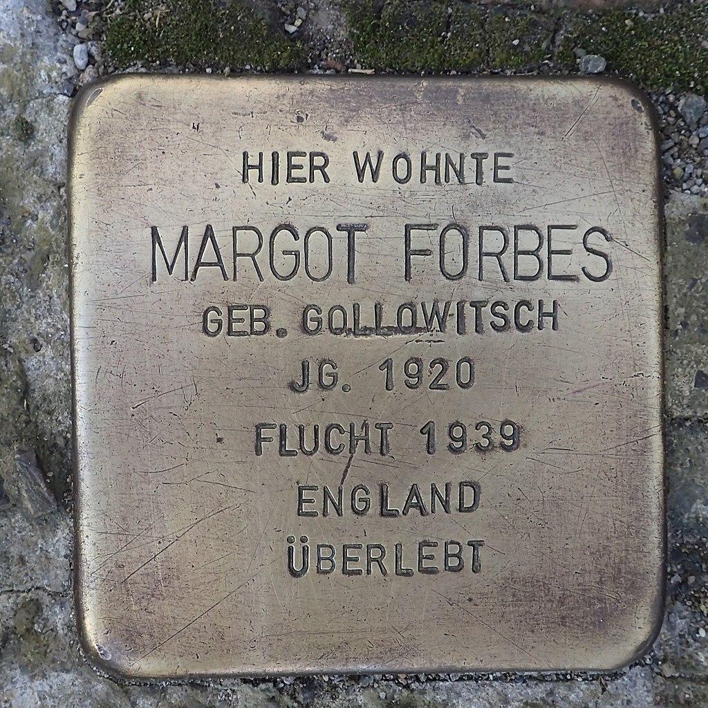 Stolperstein Leutkirch Marktstraße 27 Margot Forbes