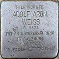 Stolperstein Salzburg, Adolf Aron Weiss (Vierthalerstraße 5).jpg
