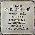 Stolperstein für Arminne Kohn (Budapest).jpg