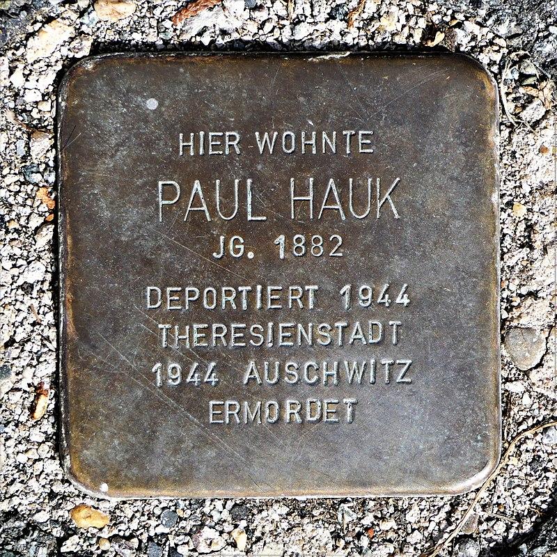 Stolperstein für Paul Hauk, Friedrich-Haupt-Strasse 16, Zittau (2).JPG