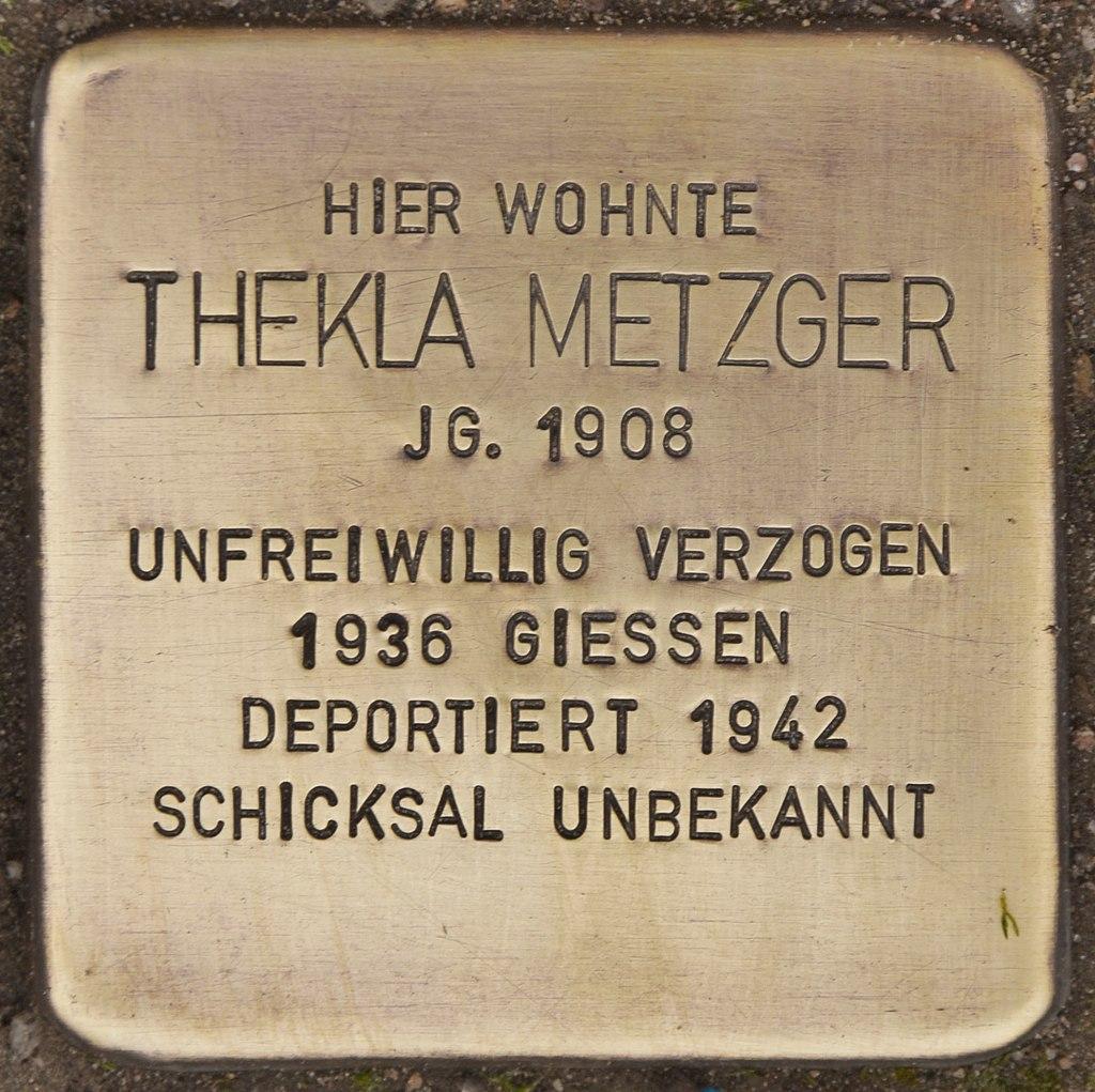 Stolperstein für Thekla Metzger (Ketsch).jpg