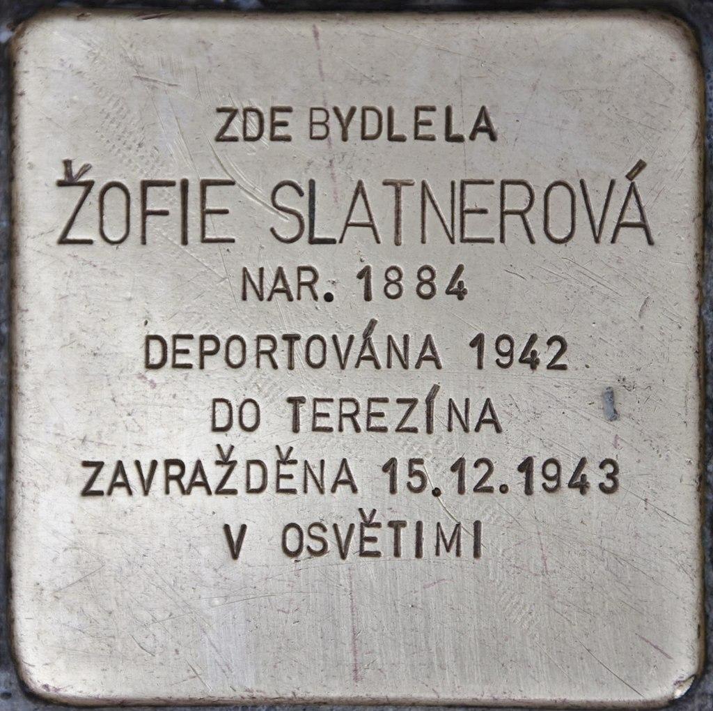 Stolperstein für Zofie Slatnerová.JPG