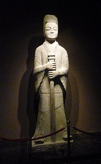 Northern Wei - Stone Statue in front of tomb. Northern Wei Dynasty (386-534 AD) in the Luoyang Museum