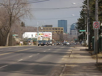 Stony Plain Road - Stony Plain Road looking east from west of downtown.
