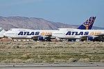 Stored Boeing 747s 'N522MC' & 'N524MC'. Mojave, CA. 29-2-2016 (27762436072).jpg