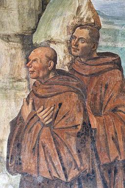 Storie di s. benedetto, 09 sodoma - Come Benedetto ai prieghi di alcuni eremiti consente di essere loro capo 04