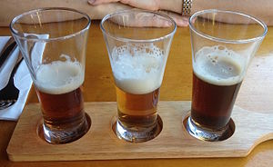 Beer style - A small flight of beers, meant to sample several styles in one sitting