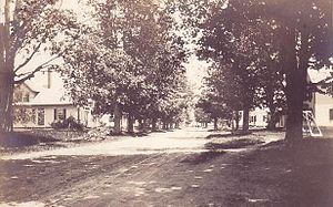 Lyme, New Hampshire - Street scene, c. 1910. Photo: Lyme Historians