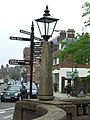 Street lamp and information sign - geograph.org.uk - 822707.jpg