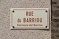 Street sign of Rue du Barriou in Najac.jpg