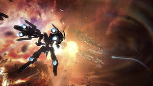 Mecha - Strike Suit Zero is a 2013 space combat video game featuring mecha designs by Junji Okubo.