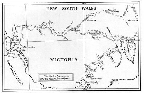 Route of the Sturt, Hume and Hovell expeditions Sturt and Hume and Hovell expeditions.jpg