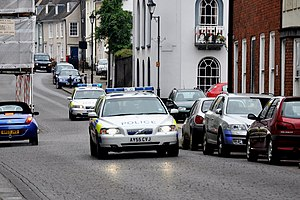 Suffolk Constabulary - Two vehicles of Suffolk Constabulary responding to an emergency call