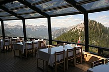 Meal with a view, on the top of Sulphur Mountain
