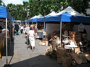 English: Summer craft fair in York A range of ...