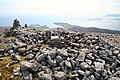 Summit of Roineabhal showing the trig point and the cairn - geograph.org.uk - 804943.jpg