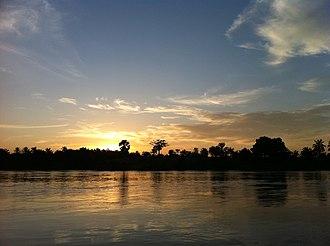 Kasai River - Image: Sunset view from Kalonda