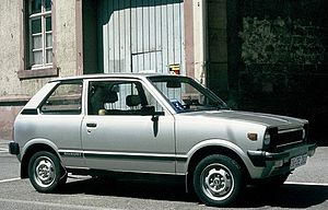 Suzuki Alto - Suzuki Alto (SS80S), European market, note the big export bumpers and the 12-inch wheels.
