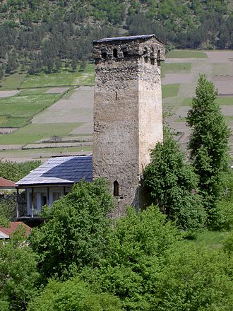 Svaneti - A typical Svanetian tower