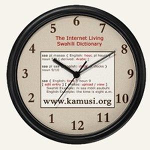Kamusi project - Swahili clock as provided by the Kamusi Project