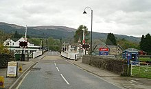 Swing bridge at Fort Augustus, from the A82, going East