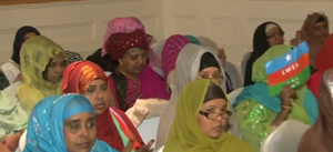 South West State of Somalia - Women at a political function in support of the Southwestern State of Somalia administration (March 2009)