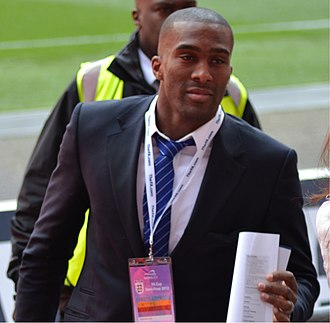 Sylvain Distin - Distin with Everton before the 2012 FA Cup semi-final.