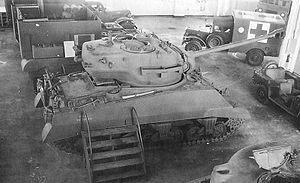 M26 Pershing - Single prototype of 90 mm gun T26 turret mounted on an M4A3 chassis.