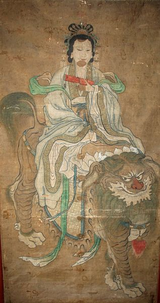 File:TAOISM IMMORTAL PAINTING OF QUEEN MOTHER OF THE WEST RIDING FOO DOG.jpg