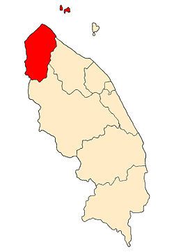 Location of Besut District in Terengganu