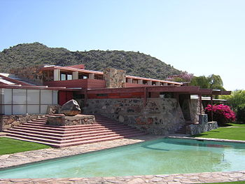 Dining and dormitory area, Taliesin West