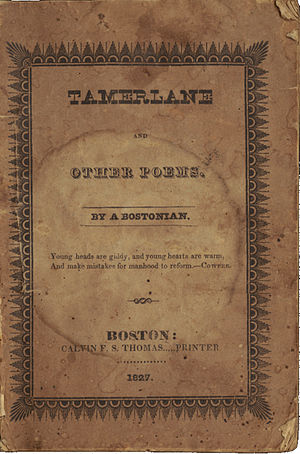 Tamerlane and Other Poems - Cover, original printing