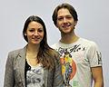 Tanja Kolbe und Stefano Caruso bei der Olympia-Einkleidung Erding 2014 (Martin Rulsch) 02.jpg