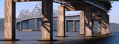 The Tappan Zee Bridge, in a view looking toward Rockland.