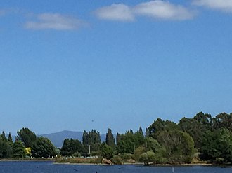 Tararua Range - Tararua Range from Henley Lake