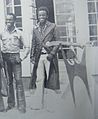 Tayali (with his brother Bright Tayali) and Early Metalwork Sculptures - Roma,Lusaka 1976..JPG