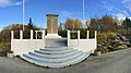 Telavaag - Minnestein monument 1940-1945 døde i fangenskap (WWII memorial) 2017-10-23 more cropped, distorted panorama a.jpg