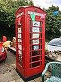 Telephone box, Groeswen Road, Groeswen, July 2020.jpg