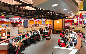 Call center industry in the Philippines - A Call Center production floor in Bacolod, Philippines.