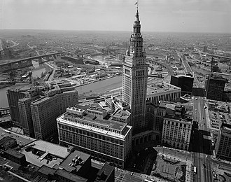 Terminal Tower - The Terminal Tower complex in 1987