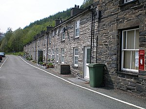 Aberllefenni - Image: Terrace of cottages at Aberllefenni. geograph.org.uk 433609