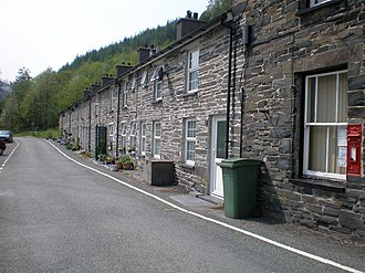 Aberllefenni - Image: Terrace of cottages at Aberllefenni. geograph.org.uk 433609