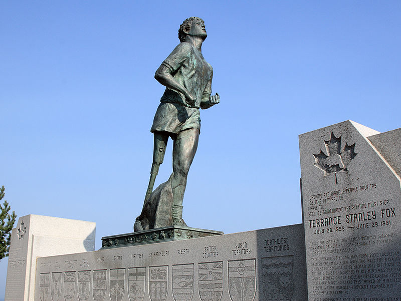 Terry Fox Monument and lookout in Thunder Bay, special person in Canadian history