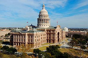 "Texas State Capitol - At the time of its construction, the capitol building was billed as ""The Seventh Largest Building in the World."""
