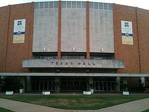 Texas Hall - Texas Hall exterior in 2010