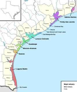 Estuaries of Texas Estuaries on the Gulf coast of Texas