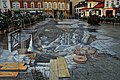 The 3D street painting Salt World, Rynek Górny (Upper Market Square), City of Wieliczka, Lesser Poland Voivodeship, Poland.jpg
