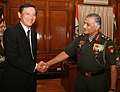 The Ambassador of Japan, Mr. Akitaka Saiki called on the Chief of Army Staff, Gen. V.K. Singh, in New Delhi on August 19, 2011.jpg