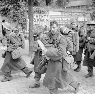 Military history of the United Kingdom during World War II - Troops on their way to the port at Brest during the evacuation from France, June 1940.
