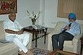The Chief Minister of Karnataka, Shri B.S. Yeddyurappa meeting the Deputy Chairman, Planning Commission, Shri Montek Singh Ahluwalia to finalize Annual Plan 2010-11 of the State, in New Delhi on March 09, 2010.jpg